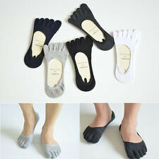 Fashion Men Ankle Five Finger Toe Socks No Show 6 Color Invisible Cotton Hosiery
