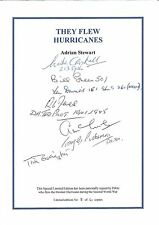 They Flew Hurricanes (Battle of Britain Pilot signed self adhesive bookplate)