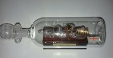 GLASS SCULPTURES SHIP IN A BOTTLE