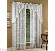 NEW Lorraine Home Fashions Hopewell Lace Curtains - White