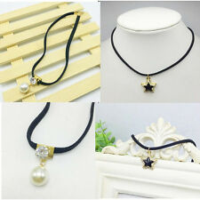 Choker Necklace Short Chain Elegant New Clavicle Fashion Pearl Waves lace