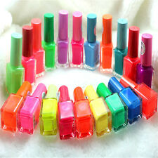 Candy Colors Glow In Dark Fluorescent Neon Luminous Nail Art Polish Varnish 7ML