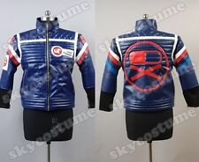 My Chemical Romance Party Poison Blue Pleather Jacket Cosplay Costume Hot& New