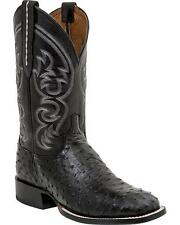 Lucchese M2697 WF Mens Black Full Quill Ostrich Western Horseman Cowboy Boots