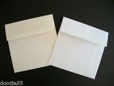 50 Square Flap 60# Paper Greeting Card Envelopes 5x5 White or Vanilla Invitation
