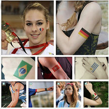 2016 Brazil Rio Olympic Game Nation Flag Temporary Tattoo Face Body Stickers 2PC