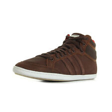 Chaussures Baskets adidas homme Plimcana mid taille Marron Cuir Lacets