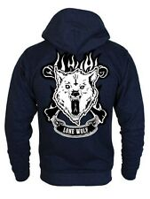 New Lone Wolf Navy Heather Zipped Hoodie
