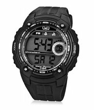 Q&Q MENS DIGITAL WATCH MADE BY CITIZEN BLACK M075J001Y 100M 1 YR WARRANTY