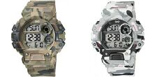 Q&Q MENS DIGITAL WATCH MADE BY CITIZEN CAMO CAMOUFLAGE M144J 100M 1 YR WARRANTY