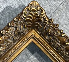 "4.75"" Picture Frame antique Gold Ornate photo museum Oil Painting Wood 256G"