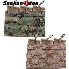 EMERSON Military Molle Triple Open Top 5.56 Magazine Pouch Bag For Tactical Vest