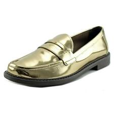 Cole Haan Pinch Campus Loafer Women  Round Toe Leather Gold Loafer