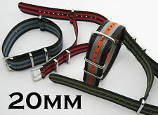 20MM GENUINE NYLON G10 MILITARY WATCH STRAP WITH STAINLESS CLASP - UK STOCK
