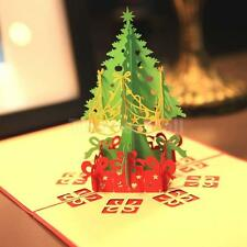 3D Pop Up Christmas Tree Santa Holiday Greeting Birthday Thanksgiving Day Cards