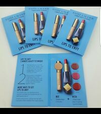Lot of 5 Estee Lauder LIPS TO ENVY Lipstick & Concealer Sample Cards