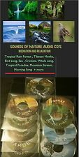 BIRD SONG + NATURE SOUNDS AUDIO CD CRICKETS TROPICAL SEA Meditation Relaxation