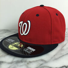 Washington Nationals Red NV NEW ERA 59FIFTY MLB FITTED CAPS HATS 100% Authentic