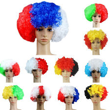 world cup Football Fans Games Supplies Afro Wig Fancy Dress Costume Cosplay RMAU