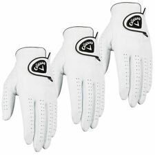 **Pack of 3** Callaway Dawn Patrol 100% Leather Mens Golf Gloves 2016-Left Hand