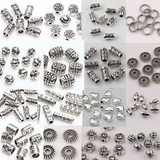 Lots 50/100pcs Tibet Silver Plated Loose Spacer Beads Jewelry Making Craft DIY