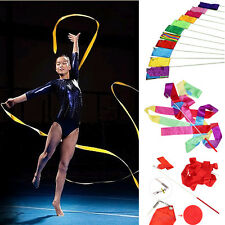 4M Dance Ribbon Gym Rhythmic Art Gymnastic Ballets Streamer Twirling Rod