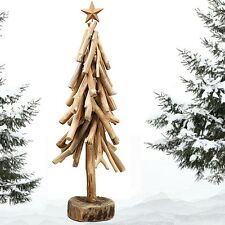"~ 21""H or 24""H DRIFTWOOD DECORATIVE CHRISTMAS TREE ON ROUND LOG BASE ~ NEW!"