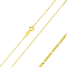 Pure 0.8mm 925 Sterling Silver Snake Chain Necklace / Gold Plated made in italy