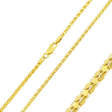 Pure 2mm 925 Sterling Silver Brite Chain Necklace / Gold Plated made in italy