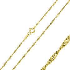 Pure 1.25mm 925 Sterling Silver Chain Necklace / Gold Plated made in italy