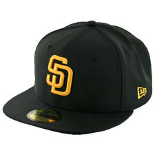 New Era 59Fifty San Diego Padres Fitted Hat (Black/Gold) Men's Custom MLB Cap