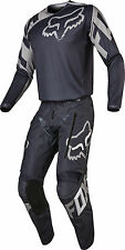 Fox Mens Charcoal Grey/Silver Legion LT Offroad Dirt Bike Jersey & Pants Kit
