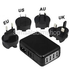 4 Port International Sockets USB Multi Adapter Travel Wall AC Charger for iPhone