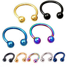 1xPretty Fake Nose Ring Lip Ear Nose Clip Fake Piercing Nose Lip Hoop Earring LZ