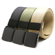 Outdoor Canvas Mens Sports Military Waistband Web Belt Tactical Automatic Buckle