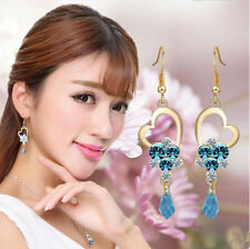 Fashion Multicolor Jewelry Drop Long Earrings Pop Crystal Charm Hot Stones Big