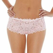 Lepel Lingerie Fiore Pretty Lace Short Brief Knickers Pale Pink Size 8-18