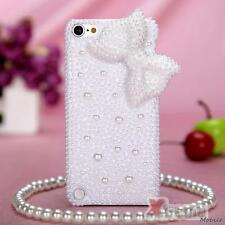 XM-For APPLE iPod touch(5th generation) Case Cover Pearl 3D Diamond White Bow