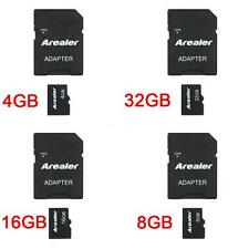 Arealer Micro SDHC Memory Card w/ Adapter 4G 8G 16G 32G High-speed Reading P3P5
