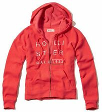 Nwt Hollister By Abercrombie & Fitch Women's Hoodie Sweatshirt Red New