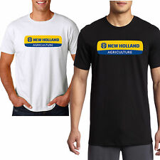 NEW HOLLAND AGRICULTURE Logo Tractors Harvesters Black/White T Shirt Size S-3XL
