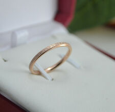 Size3~10 14K Gold Filled Stainless Steel Jewelry Simple Matting Women's Rings