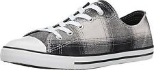 Converse Women's Chuck Taylor Dainty Ox Sneakers 549611F Size 7 (Black Plaid)