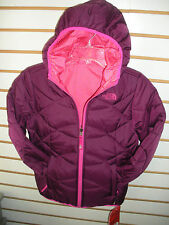 THE NORTH FACE GIRLS REVERSIBLE DOWN MOONDOGGY JACKET- CHB3- P PURPLE- L ,XL
