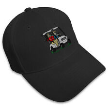 MEN IN GOLF CART Embroidery Embroidered Adjustable Hat Baseball Cap