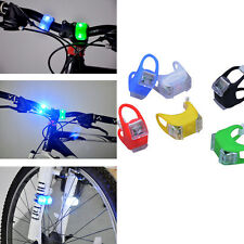 Superbright Silicone Safety Cycling Bike Bicycle 2LED Frog Head Front Rear Light