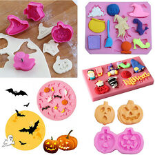 NEW Halloween Pumpkin Plunger Chocolate Cake Cookie Fondant Mold Mould Cutter