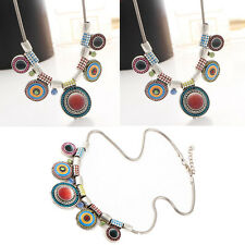 Charm Necklace Statement Bib Hot Chain Pendant Choker Chunky Women Bohemia
