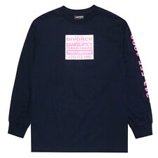 """The Hundreds """"Bankrupt"""" Long Sleeve Tee (Navy) Men's Graphic T-Shirt"""
