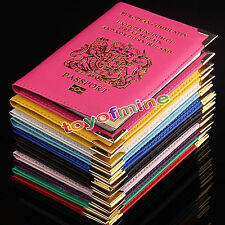 PASSPORT HOLDER FOR UK AND EUROPEAN PASSPORT PROTECTOR COVER WALLET PU LEATHER